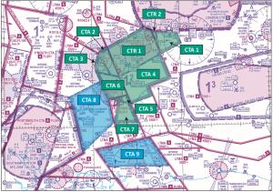 Farnborough CTR/CTA Controlled Airspace
