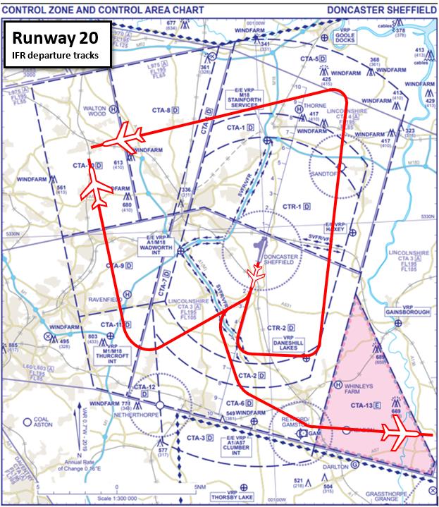 Figure 11 A R20 IFR departure tracks