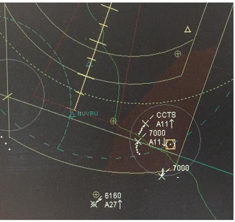 Figure 4 LFA on Doncaster radar screens