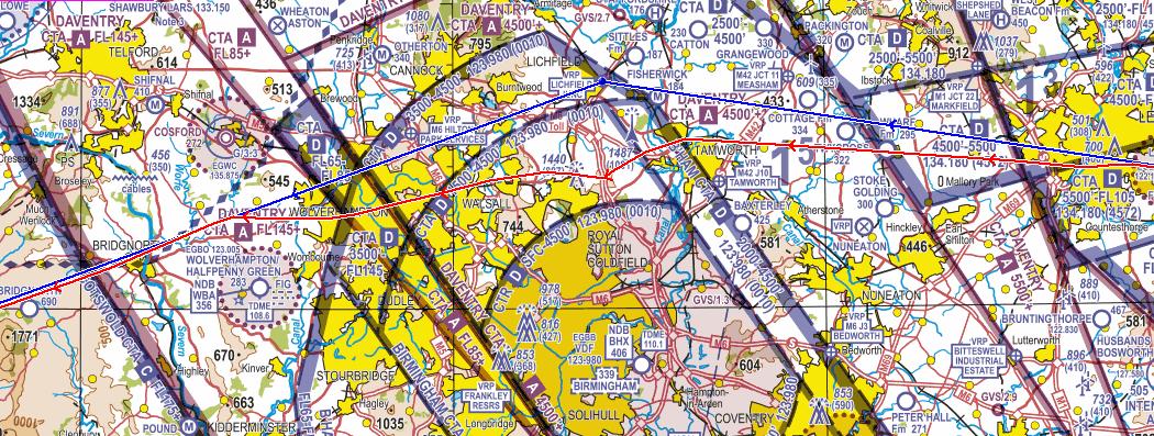 Airspace Infringement of Class D Airspace - Birmingham Control Area 1 : Figure 1