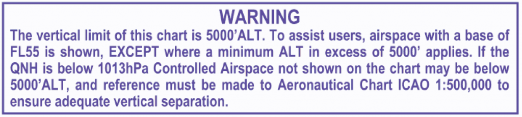 1:250, 000 chart warning to remind users of the vertical limits
