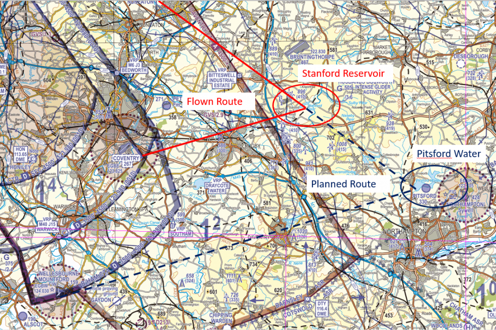 Figure 4: Planned and flown routes.